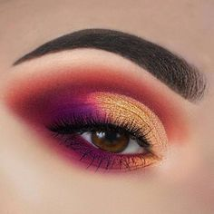 Makeup Inspirations - Best Makeup Inspirations - Makeup Ideas - Lip Makeup Art - Eye Makeup Ideas - MUA - credits to the artist Pink Make Up, Make Up Gold, Eye Make Up, Beautiful Eye Makeup, Cute Makeup, Pretty Makeup, Gold Makeup, Kiss Makeup, Makeup Art