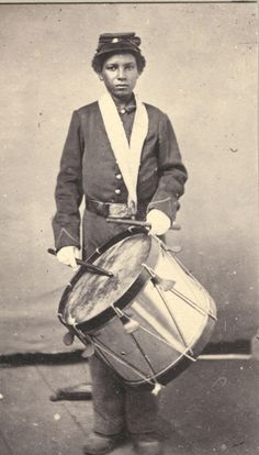 A former slave, Jackson, became a army drummer in the Union army.  This breaks my heart.  so young