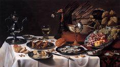Still Life with Turkey Pie  1627, Pieter Claesz