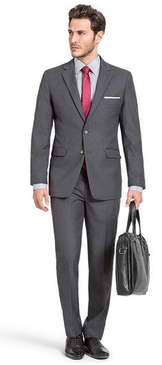 Grey wool Suit http://www.tailor4less.com/en-us/men/suits/3171-grey-wool-suit