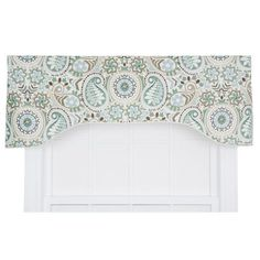 Alcott Hill Drumahaman Floral Print Lined Arched Curtain Valance & Reviews | Wayfair