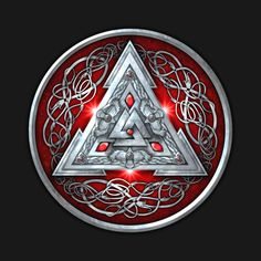 Check out this awesome 'Red+Norse+Valknut' design on @TeePublic!