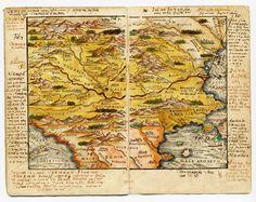 cea mai veche harta a Romaniei -1542, gravata de Ioan Honterus din Brașov
