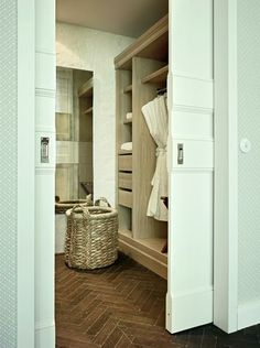 Soho House Berlin Apartments wardrobe (Love the closet organization)