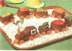 Meat Loaf Train (100 Ways to be Original in All Your Cooking, 1964) For a more apt description, double click on the picture.