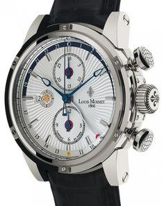 Louis Moinet   Geograph   Edelstahl   Uhren-Datenbank watchtime.net