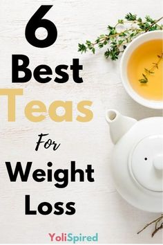 Some teas have the ability to ease an upset stomach and nauseas but did you know that some of them also have the ability to promote weight loss? These 6 teas are well known for their ability to boost the metabolism, curb cravings and burn fat. Weight Loss Meals, Quick Weight Loss Tips, Weight Loss Secrets, Weight Loss Drinks, Weight Loss Smoothies, Weight Loss Program, Healthy Weight Loss, How To Lose Weight Fast, Losing Weight