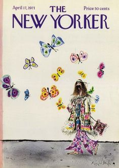 The New Yorker cover.1971 The New Yorker, New Yorker Covers, Cool Wall Art, New Yorker Cartoons, Retro Illustration, Vintage Magazines, Vogue, Wall Collage, Vintage Posters