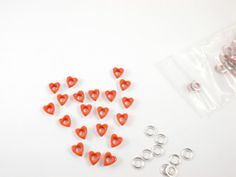 50 PC-3/16 orange hearts eyelets for scrapbooking,craft,sewing project and much more
