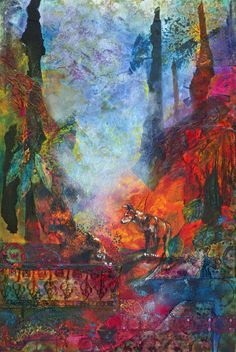 Tricia Reust, Ancient Lineage, Mixed Media on Canvas