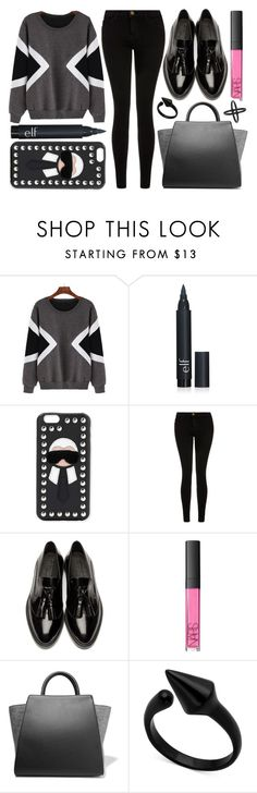 """street style"" by sisaez ❤ liked on Polyvore featuring Fendi, Current/Elliott, Burberry, NARS Cosmetics, ZAC Zac Posen and Topshop"