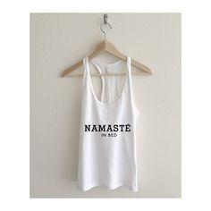 Namaste in Bed Women's Racerback Tank Top