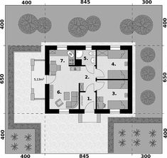 Projekt domu Bayamo dom letniskowy 43,88 m2 - koszt budowy 51 tys. zł - EXTRADOM Home Fashion, Floor Plans, House Styles, Mini, Floor Plan Drawing, House Floor Plans