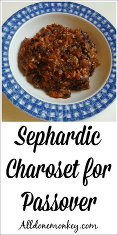 Explore the history of Sephardic Jews with this charoset recipe for Passover. A mixture of fruits and nuts, charoset is an important part of the Seder.