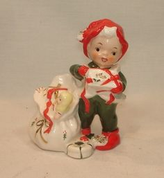 Vintage LEFTON CHINA Christmas ELF Figurine Gift for You | eBay