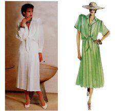1980s Guy Laroche Tie Blouse & Skirt by allthepreciousthings, $18.00