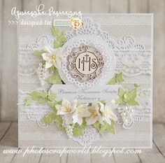 Holi communion card with The Rose Avenue collection.