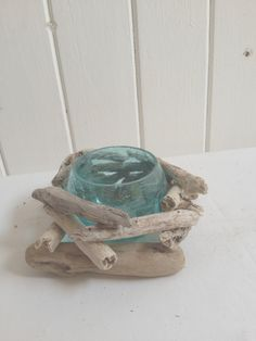 Blue candle holders (various)