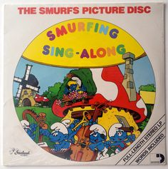 The Smurfs - Smurfing Sing-Along  SEALED Picture Disc LP Vinyl Record Album, Sessions - ARI-1029, Children, Story, 1982, Original Pressing