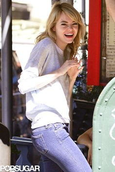 Give 'Em a Giggle | Emma Stone in NYC