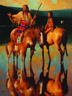 Lakota Sundown by David Mann
