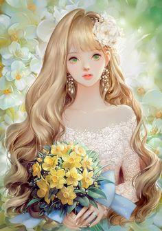 """"""" """"So I have really long hair. Anime Girl Drawings, Anime Art Girl, Manga Girl, Anime Girls, Pretty Anime Girl, Beautiful Anime Girl, Art Buddha, Photographie Portrait Inspiration, Anime Princess"""