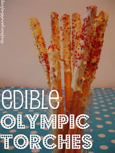 Edible #Olympic activities for kids to help them celebrate ☜♥☞