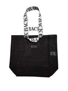Logo net tote - Black via ANN-SOFIE BACK. Click on the image to see more!