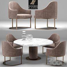 Folding Furniture, Unique Furniture, Table Furniture, Furniture Design, Circular Dining Table, Dining Table Design, Dining Chairs, Couch With Ottoman, Dinner Room