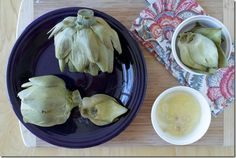 Steamed Artichokes with Garlic Butter!