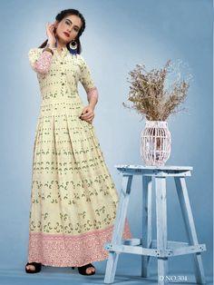 Gowns Online, Yellow Fabric, Extra Fabric, Print Design, Saree, Stylish, Kurtis, Color, Shop
