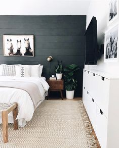 6 Beautiful Bedroom Decor Ideas The best bedrooms are as captivating as they are comfortable. We've handpicked six beautiful bedroom decor pieces to create a tranquil yet stylish setting to rest your head. Bedroom Colors, Home Decor Bedroom, Modern Bedroom, Bedroom Furniture, Minimalist Bedroom, Bedroom Rustic, Spare Bedroom Ideas, Adult Bedroom Ideas, Mid Century Modern Master Bedroom