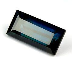 Natural Unheated 2.57ct Green / Blue Sapphire Baguette Cut, VS Clarity $790.00 USD