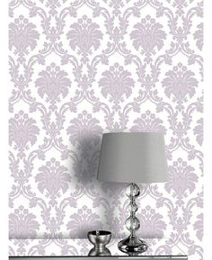 A Beautiful Damask Patterned Wallpaper Features Subtle Metallic Sheen Ideal For Bedrooms And Lounges