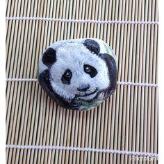 Panda handpainted on Pebble. by TheDandyArtist on Etsy