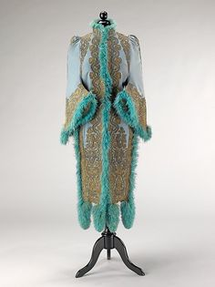 Mantle Designer: Emile Pingat  Date: ca. 1891 Culture: French Medium: wool, silk, metal, feathers Accession Number: 2009.300.337