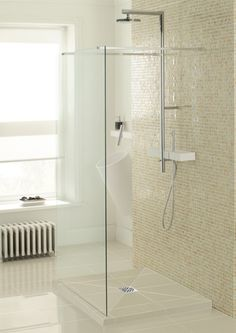 Small Wet Room Shower Ideas #WheelchairBathrooms >> Visit us at http://www.disabledbathrooms.org/wheelchair-accessible-bathroom.html