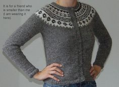 """Icelandic Sweater Maybe replace the sleeve cuff and bottom band with ribbing -- don't really like the lumpy style that they've got. Cardigan version of the same designer's pattern """"Aftur"""" with optional hood. Sweater Knitting Patterns, Knit Patterns, Clothing Patterns, Icelandic Sweaters, How To Start Knitting, Fair Isle Knitting, Knitting Accessories, Knitted Shawls, Knit Crochet"""