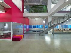 JWT NY HQ, bold use of color