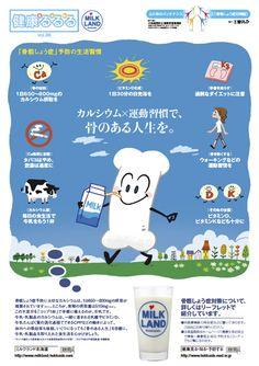 北海道医師会とホクレンとでの健康啓蒙ポスター「健康るる」ポスターの3回シリーズの1回目です。今回は、骨粗しょう症予防についでです。大切なカルシュ−ムの不足分をコップ1杯の牛乳で手軽におぎなえるのですね。ご報告が遅れましたがポスターは8月掲載したものです。...