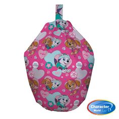 Our Pink Paw Patrol Pals Bean Bag is an officially licensed children's character beanbag. Your kids will love the soft and cushioned comfort of this Pink bean bag, while reading, watching TV or playing games. The bean bag has cool Sky & Everest Pup logos which fans will love  Each beanbag has been made from 100% Cotton and filled with quality polystyrene beads. 100% Hard wearing high-quality superman logo design cotton cover.