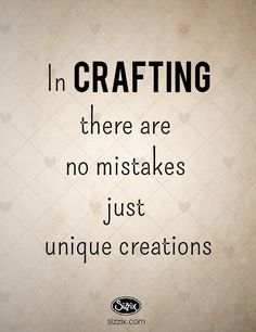 In Crafting There Are No Mistakes, Just Unique Creations Craft Room Signs, Craft Quotes, Quote Crafts, Diy Quote, Me Quotes, Funny Quotes, Sewing Humor, Quilting Quotes, Sewing Quotes