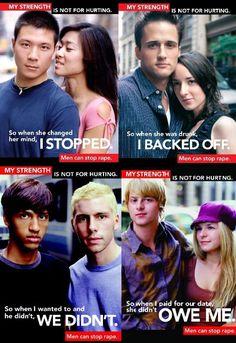Anti-rape culture posters - Men can stop rape!