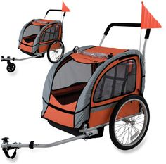 Avenir Sport Dual Bike Trailer with Stroller Kit - 2012 Closeout - Free Shipping at REI-OUTLET.com