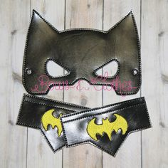 Bat Guy Mask and Wristbands