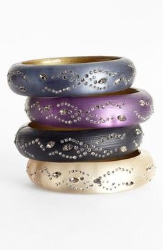 Beautiful bangles by Alexis Bittar.