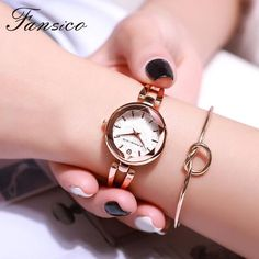 Fansico Fashion Small Dial Women Bracelet Watches Luxury Ladies Watch Girls Watches For Women Casual Mini Clock From Touchy Style Outfit Accessories ( Silver Black ) Cheap Watches For Men, Stylish Watches, Cool Watches, Silver Accessories, Trendy Accessories, Beautiful Watches, Simple Jewelry, Fashion Watches, Bracelet Watch