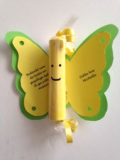 Vlinder met krijtje idee voor afscheid van de creche