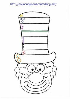 Das Journal of Chrys: Mein Projekt CIRCUS im Kindergarten - carnaval - Clown Crafts, Circus Crafts, Carnival Crafts, Circus Art, Carnival Themes, Circus Theme, Colouring Pages, Coloring Books, Preschool Circus