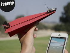 PowerUp 3.0 / Get ready to make your outdoor expeditions a bit more cheerful with PowerUp 3.0 smartphone compatible paper airplane.  http://thegadgetflow.com/portfolio/powerup-3-0/